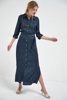 Košilové midi šaty