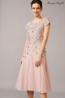 Phase Eight Pink Celia Embellished Tulle Dress