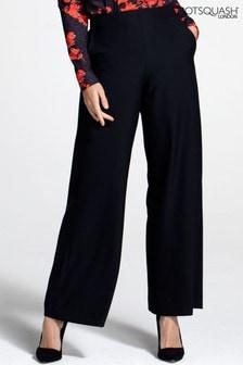מכנסי קרפ רחבים שלHotSquash בסגנון Luxe-פנאי בשחור