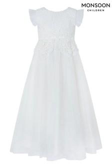 Monsoon Ivory Milla Crochet Maxi Dress