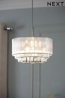 Clear Ella Easy Fit Lamp Shade