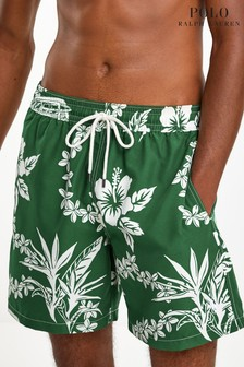 Polo Ralph Lauren Green Hawaiian Swim Shorts