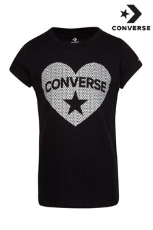 Converse Youth Sequin Heart T-Shirt