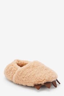 حذاء للبيت فرو صناعي مخلب (الصغار)