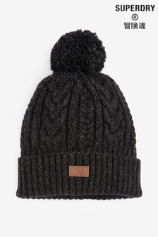 Superdry Black Jacob Beanie Hat