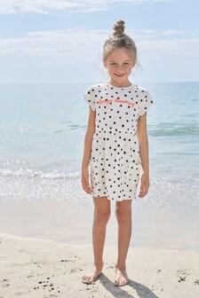 Kurzärmeliges, bedrucktes Kleid (3-16yrs)