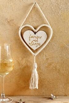 Cream Heart Hanging Decoration
