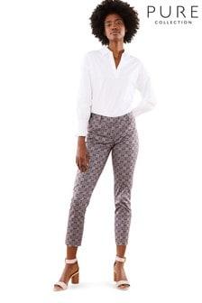 Pure Collection Black Capri Trousers