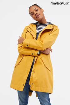 White Stuff Yellow Middlehaum Rain Mac