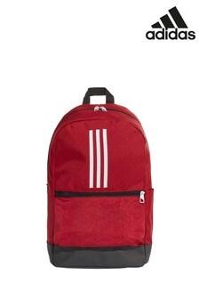 Красный классический рюкзак с 3 полосками adidas