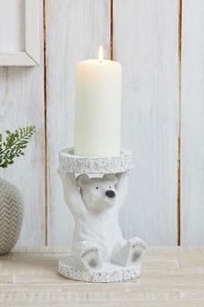 Polar Bear Pillar Candle Holder