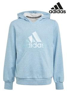 adidas Blue Pearl Logo Overhead Hoodie