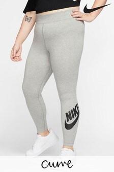 Nike Curve Leg-A-See Leggings mit hohem Bund, grau