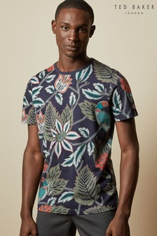 Ted Baker Blue Arcade Bird Botanical Printed T-Shirt
