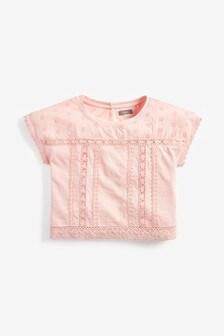 Skrátené tričko s čipkou (3 – 16 rok.)