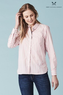 Crew Clothing Pink Girlfriend Stripe Shirt