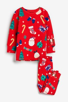 Christmas Wrap Soft Touch Cotton Pyjamas (9mths-12yrs)