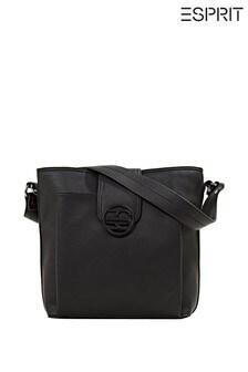 Esprit Black Faux Leather Shoulder Bag