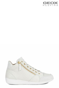 Geox Women's Myria Off White Sneakers