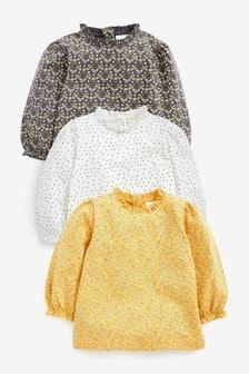 3 Pack Frill T-Shirts (0mths-2yrs)