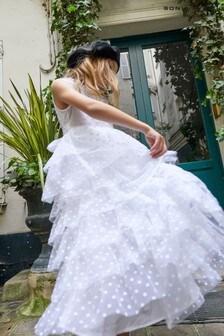 Sonia Rykiel Paris White Tulle Dress