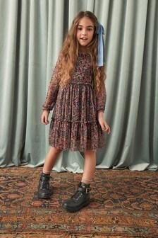 Gestuftes Tüll-Kleid (3-16yrs)