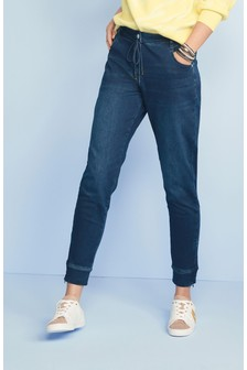 Soft Stretch Jersey Denim Joggers