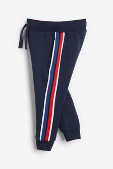 Трикотажные спортивные брюки с лентой сбоку (3 мес.-7 лет)