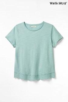 חולצת טי עם שסע בגב של White Stuff דגם Herb Garden בכחול