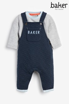 Baker by Ted Baker Navy Dungaree And Bib Set