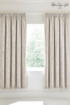 Helena Springfield Avery Floral Jacquard Lined Pencil Pleat Curtains
