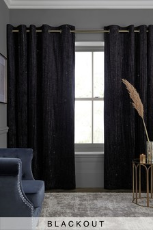 Sparkle Velvet Eyelet Curtains