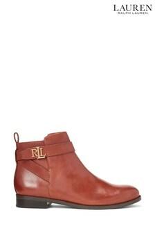 Lauren Ralph Lauren® Leather Strap Logo Bonne Chelsea Boots
