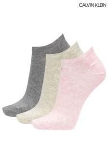 Calvin Klein Pink Chloe Trainer Socks 3 Pack