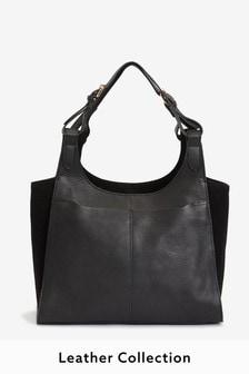 Leather Multi Compartment Shopper