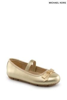 حذاء خفيف باليرينا ذهبي سيور من Michael Kors