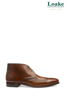 Loake Tan Leather Murdock Brogue Boots