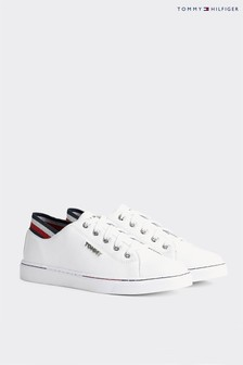Tommy Hilfiger White Glitter City Trainers