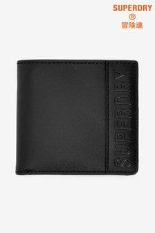 Superdry Black Vermont Bifold Leather Wallet