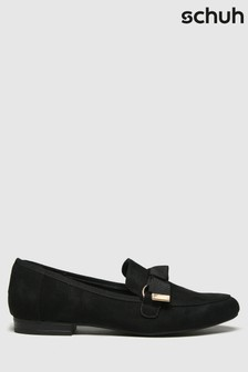 Schuh Black Lima Hardware Bow Loafers