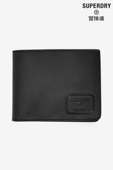 Superdry Black NYC Bifold Leather Wallet