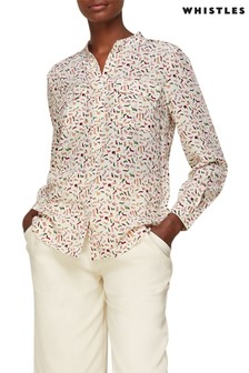 Whistles Shoe Print Silk Shirt