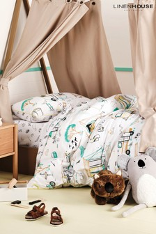 Linen House Kids Multi Down By The River Duvet Cover and Pillowcase Set