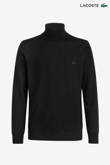 Lacoste® Lambswool Roll Neck Jumper
