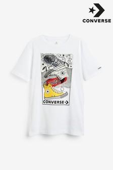 חולצת טי לילדים של Converse עם הדפס סניקרס