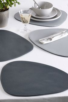 Set of 4 Reversible Pebble Placemats