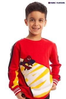 Fabric Flavours Spider-Man® T-Shirt mit Metallic-Stickerei, Rot