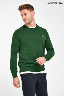 סוודר מכותנה עם צווארון מעוגל של Lacoste®