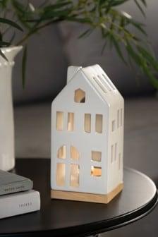 Керамический подсвечник в виде домика