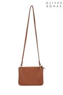 Oliver Bonas Brown Kimmi Brown Multi Pocket Cross Body Bag